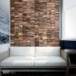 Wood wall design masif ahşap duvar