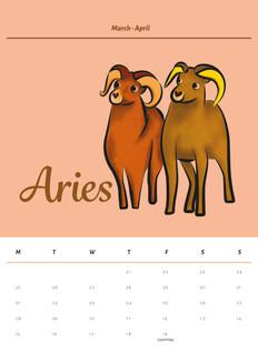Aries Calendar