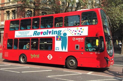 This is designed based on a brief to inspire children to be more active.  I created a game up that encourage families to get into an active daily routine. I designed the logos, artwork and layout. This is a mock up of the advert on the side of a bus.