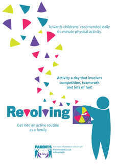 This is designed based on a brief to inspire children to be more active.  I created a game up that encourage families to get into an active daily routine. I designed the logos, artwork and layout.