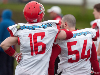 Admirals Cement Number One Ranking with 36 - 14 Win Over the Rhinos