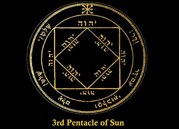 3rd Pentacle of Sun | Success | Power | Authority