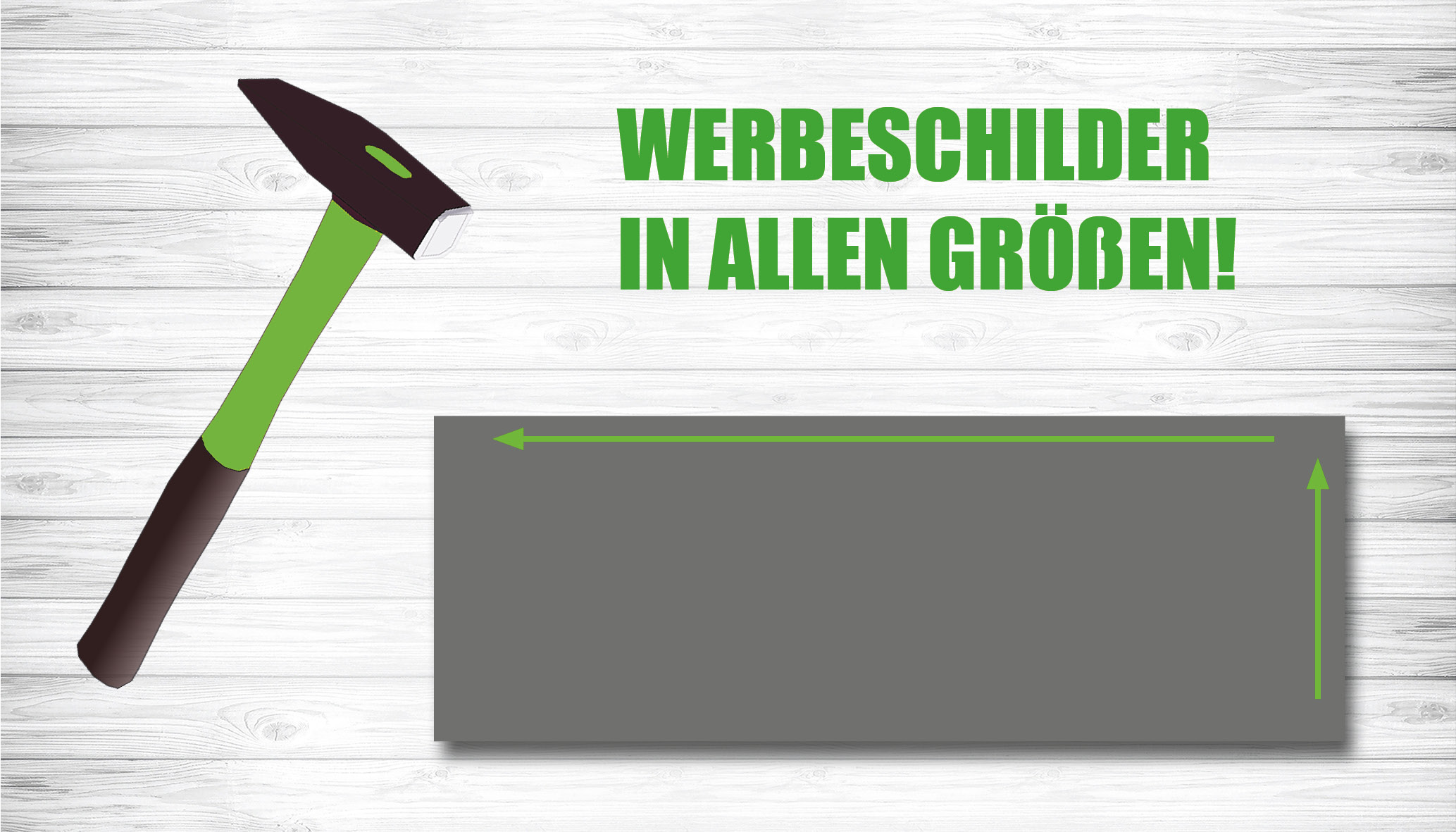 Slideshow Werbeschilder