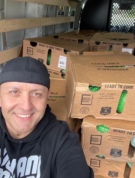 JJPF Delivering Turkeys for Thanksgiving