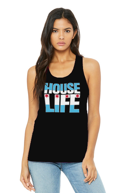 House Life Ladies Racerback Tank