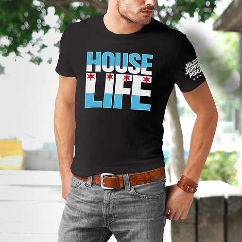 House Life Chicago Flag Tee
