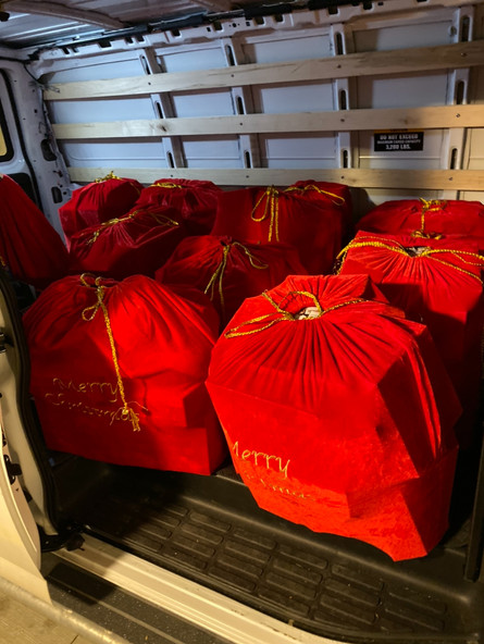Toy donations loaded for delivery