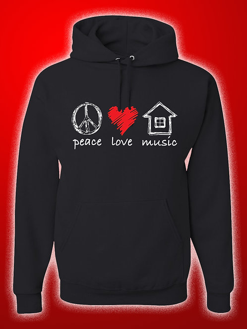 Peace Love House Music Hoodie