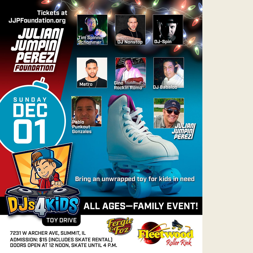 DJs 4 Kids ALL AGES Roller-Jam Toy Drive