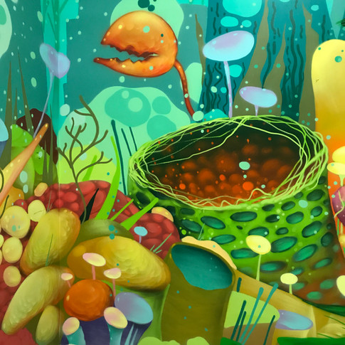 Otherworld underwater themed mural