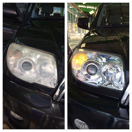 Headlight Restoration on a car