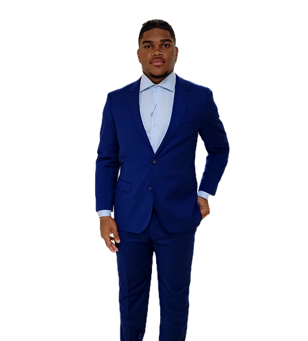 Stunning Blue Suit - Rayquan Smith