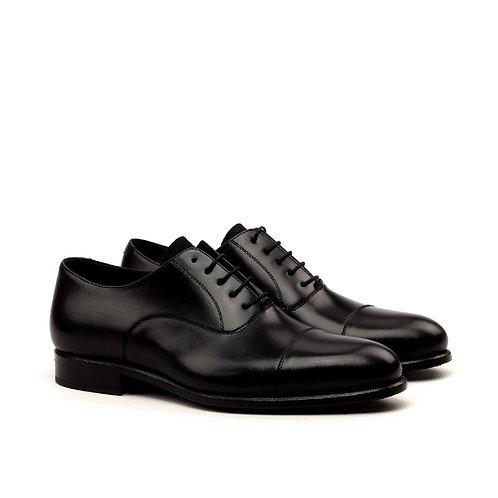 Black Captoe Oxford