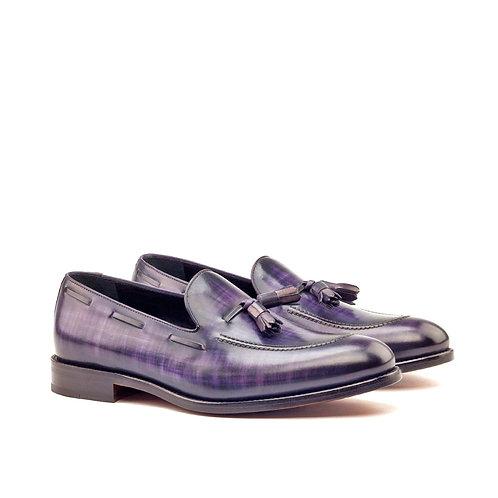 Purple Patina Calf Skin Loafer