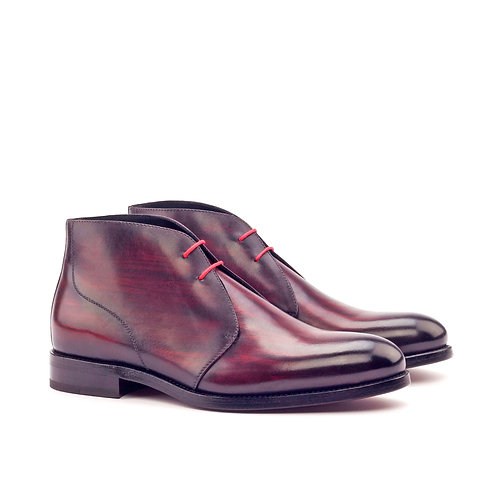 Burgundy Chukka Patina