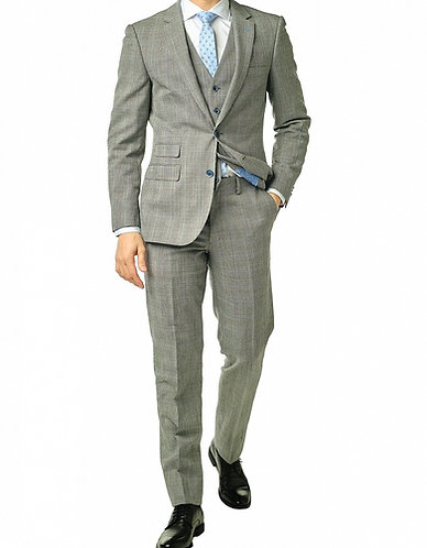 Grey Prince of Wales 3 Piece Suit