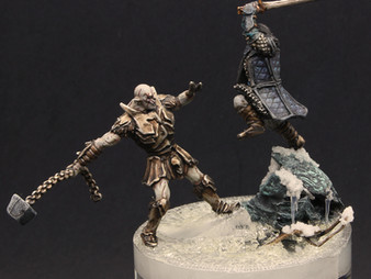 Azog v Thorin diorama