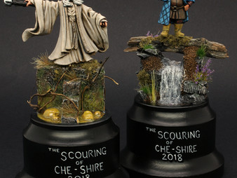 Scouring of Che-Shire 2018 Tournament prizes.  Saruman & Tom Bombadil
