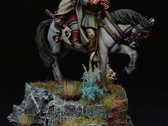 Legolas & Gimli on horseback.