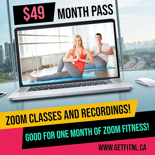 ONE MONTH OF ZOOM FITNESS