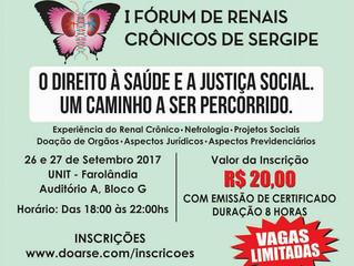 Setembro Verde, Setembro Vida: I Fórum de Renais Crônicos de Sergipe!