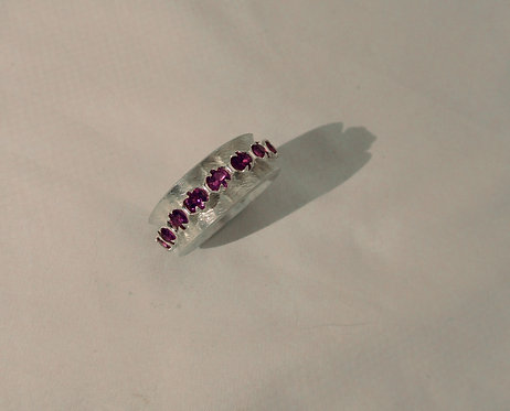 Sterling Silver Rhodolite Garnet Spinner Ring