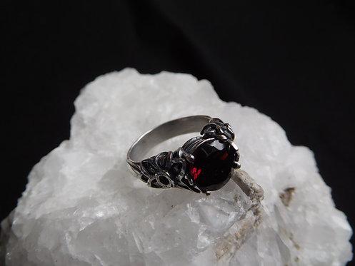 Amici Sterling Silver Garnet Ring