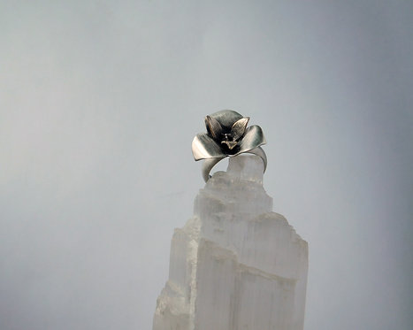 Sterling Silver Sego Lily Ring