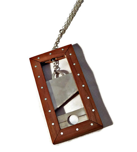 Sterling Silver Guillotine Necklace