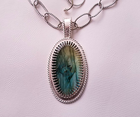 Labradorite World Trade Center Pendant