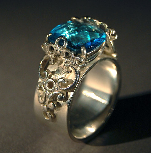 Sterling Silver and London Blue Topaz Ring