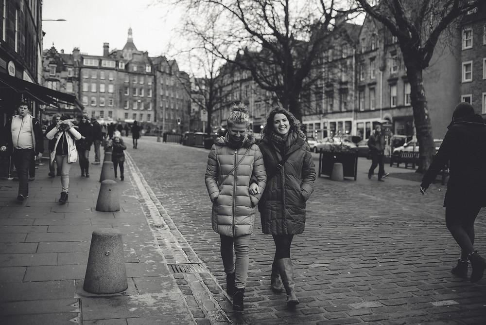 Grassmarket, Edinburgh, Scotland, Harry Potter inspiration, historic marketplace, cobblestone street