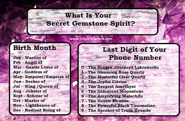 Quiz - What is your secret gemstone spir