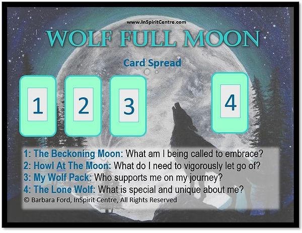Full Wolf Moon Card Spread Barbara Ford,