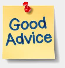 Good advice sticky note