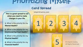 Prioritizing Myself Card Spread