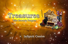 Salt lamps, crystals and sage that promotes the Treasures Elite reward program for the Inspirit Centre