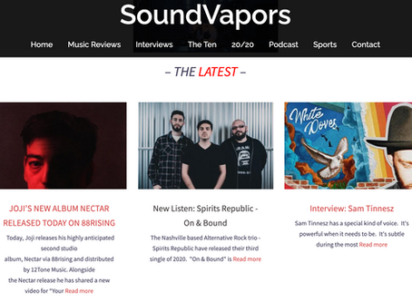 "SoundVapors New Listen: Spirits Republic - ""On & Bound"""