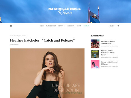 "Nashville Music Reviews: Heather Batchelor | ""Catch and Release"""