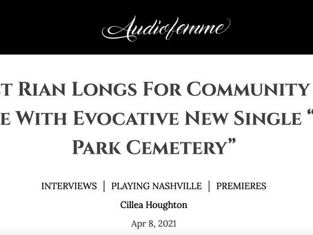 """Audiofemme Exclusive Premiere: Bridget Rian - """"Trailer Park Cemetery"""""""