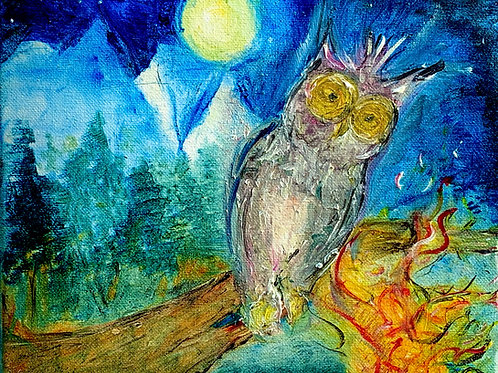 Owl Painting - Print*