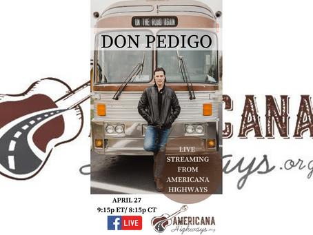 Americana Highways Presents: Live from the Quarantine w/ Don Pedigo