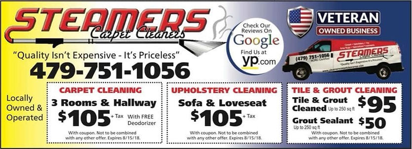 Steamers Carpet Cleaners Best Deals in Carpet Cleaning in Bentonville Arkansas