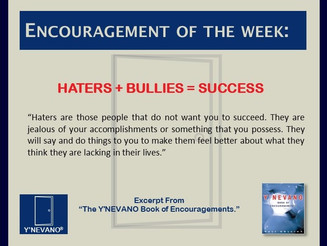 HATERS + BULLIES = SUCCESS