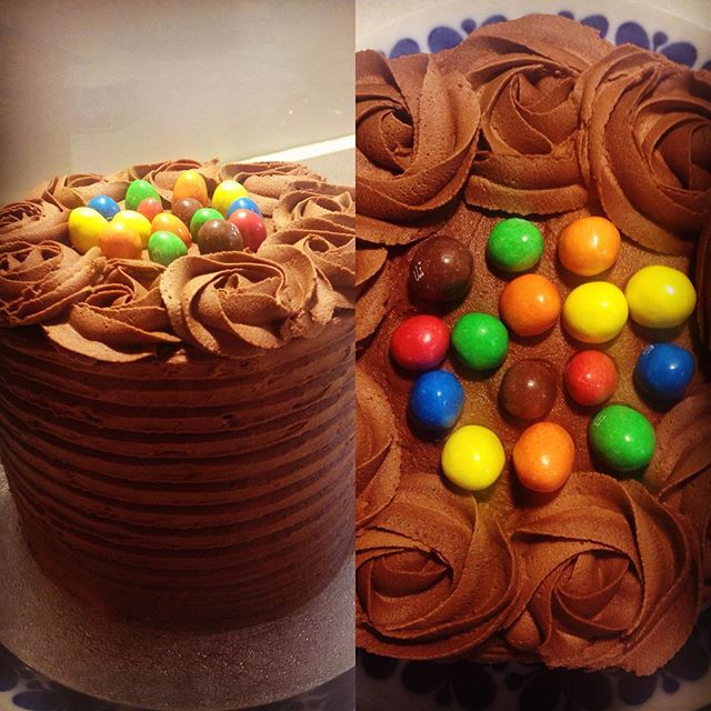 Chocolate Peanut M&M Cake