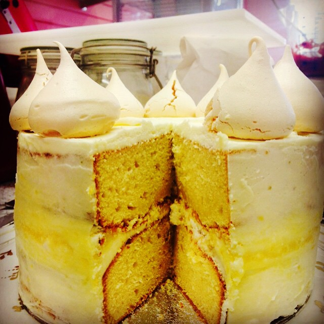 Lemon Meringue Cake