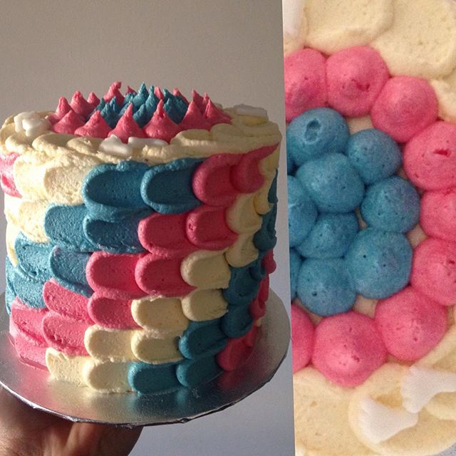Guess the gender Ombre Cake