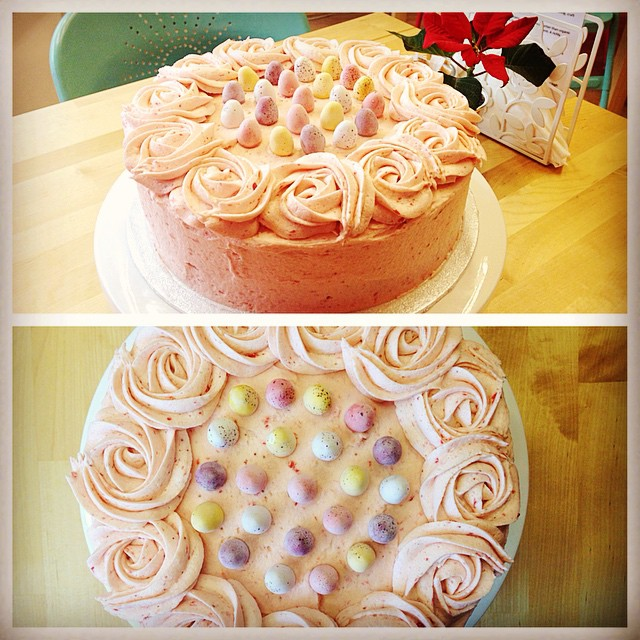 Strawberry & Vanilla Easter Cake