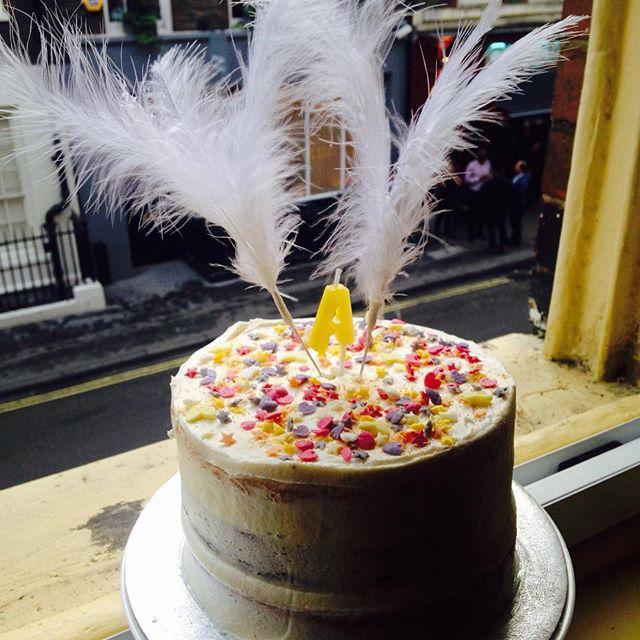 Semi-naked Vanilla Cake