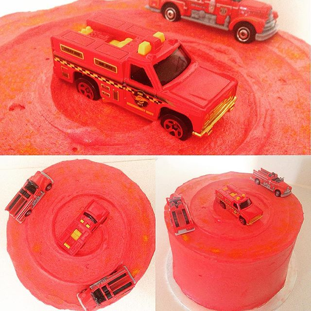 Red Velvet Fire Engine Cake